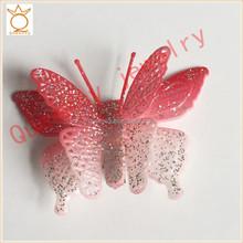 TF0050 Girls chic cheap satin butterfly hair clip design