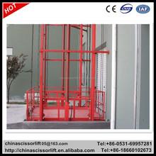 1t hydraulic cargo lift/ guide rail lift indoor warehouse lift platform