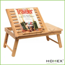 Compact Bamboo Lap Desk/Foldable Bamboo Laptop Stand/Homex_BSCI