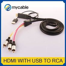 HDMI to 5 RCA RGB Component Cable rca vga adapter HDTV Cord Audio AV Video Converter