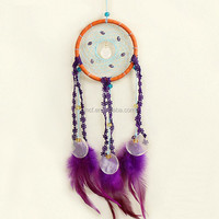 FW-0111 cheap feather decoration wholesale indian dream catcher