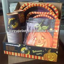 Halloween paper cups and plates Napkins Set