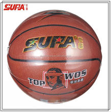 Custom logo Laminated Microfiber PU leather material official basketball