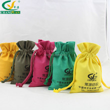 Factory Wholesale Cotton Fabric custom printing small drawstring bag