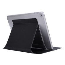 Newest Hot Selling Clear PC Back and PU Leather Flip Case for iPad Air 2 Leather Cover