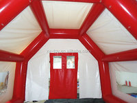 Inflatable disaster relief tent refugee tent