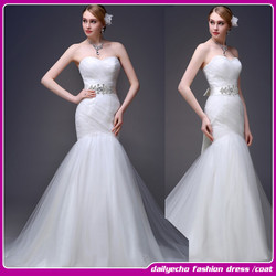 2015 Trumpet/Mermaid sexy fashion Floor-length Wedding Dress