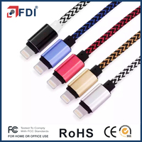 Premium Nylon Braided USB Data and charge Cable with Aluminum Connectors