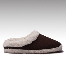 HC-957 Knitted upper faux fur lining faux suede outsole fur collar winter women fleece lined slippers for indoor