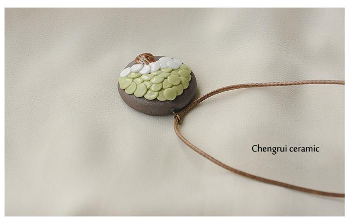 ceramic 2017 latest fashion simple tree of life shape necklace Wax line anti allergy chain Christmas trinket