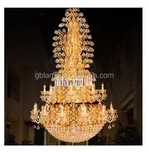 Gold beautiful crystal chandelier, k9 crystal chandelier pendant lamp