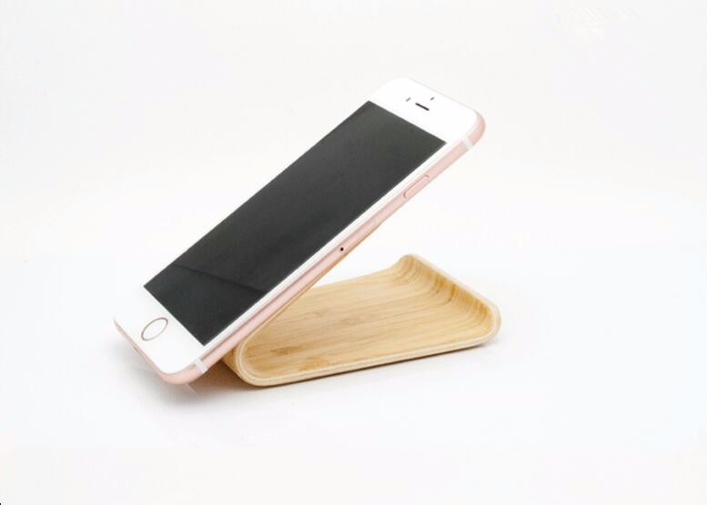 iWatch iPAD /& Smart phone device SW3 Micro-suction Wood Stand for Apple iPhone