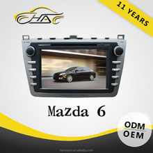 8inch Touch Screen In Dash Car DVD Player For Mazda 6 Built In Bluetooth Support Hand Free Call With Rear-view Camera By Free
