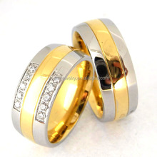 custom made titanium ring/ stainless steel wedding ring for couples 18K gold, IP rose color