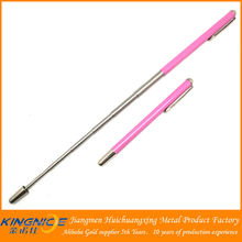 pink paint telescopic ball point pen