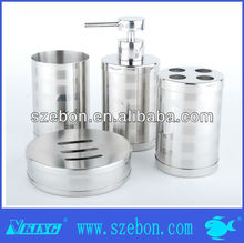 2014 Hot sales stainless steel tumbler soap dish bath accessories set