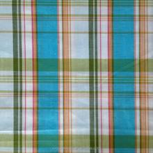 cotton spandex stretch check stripe poplin yarn dye fabric with lurex for lady garment