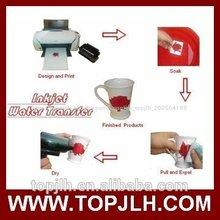 De inyección de tinta de transferencia de agua de papel, transferencia de agua etiqueta de papel