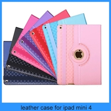 2 in 1 detachable Leather Flip Cover Case Stand Shell Housing tpu rubber holder rotating case For iPad mini 4 3 2 4 Air