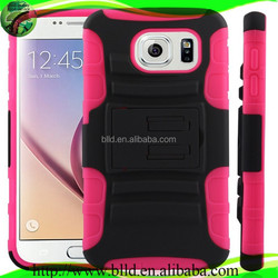 Hot Selling PC TPU Robot Holster Combo Case For Samsung S6