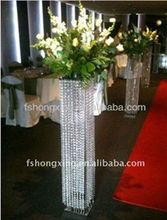 LQ103 decorated crystal pillars for weddings