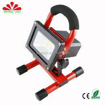 ce rohs certified ip65 outdoor portable high power cob led 10w battery powered worklight