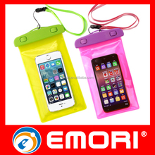 Top quality multi-color PVC mobile phone waterproof pouch for swimming