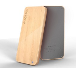 New products in china market 2016 smart wood powerbank 4000 portable charger