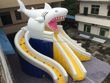 carzy dolphins giant inflatable slide for CE Certification
