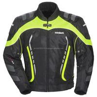 Mens Hi-Viz/Black Textile Jacket w/ Quilted Lining & Chest YKK Zipper Pocket -