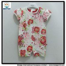 Bestgo impreso flores ropa para bebe