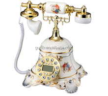 Fshion promotion gift Diamond Antique telephone for home decoration GBD-6022A
