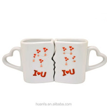 Amazing magic couple cup& changing color when heated cute mug