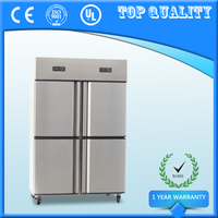 830L Commercial 4 Door Fruit And Vegetable Refrigerator