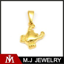 18K Gold Shine Casting Jewelry Crab Pendant Charm