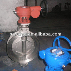 gear operated stainless steel butterfly valve