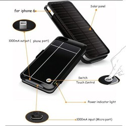 Solar Battery Case, Solar Mobile Charger, Solar Mobile Charger Cover Use For Mobile Phone Case For Iphone 6