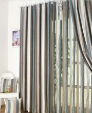 100%polyest stripe window curtains modern style home textile
