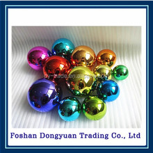gold color metal ball with hook/stainless steel hanging decoration gold ball with hook