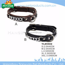 Promotional high quality comfortable metal buckle dog collar