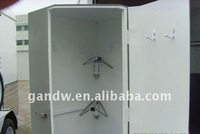 Saddle rack box with lockable