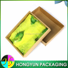 brown draw style rectangle folding paper box for scarf