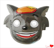 Plastic animal masquerade party mask/cartoon wolf mask