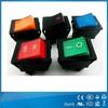 UL VDE certificates all color led blue rocker switch dpdt