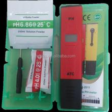 Pen Type Digital Mini Ph Meter With Long Probe Hydroponic Aquarium Atc