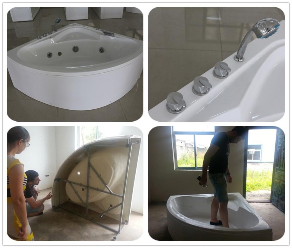 Luxe hoek bad badkamer ontwerp dubbele whirlpool jaccuzi massage ...