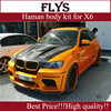 Price by factory!!!Haman body kit for X6 E71 fiber glass material.