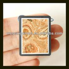 Spot Stone,Black Stone Intarsia Pendants