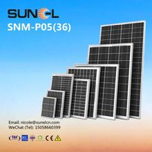 5W mini poly solar panel for 12V DC battery lighting