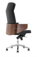 2015 bent wood high back boss leather swivel office executive chair